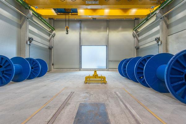 Hallenerweiterung für Gross-Coils, Drahtwerk Köln GmbH, Innenansicht
