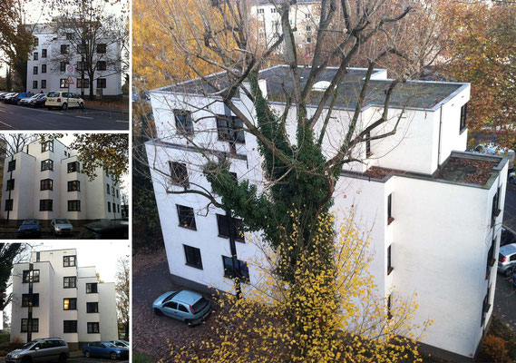 Bestand vor der Erweiterung der Wohnanlage für Studierende in der Bernkasteler Straße in Köln