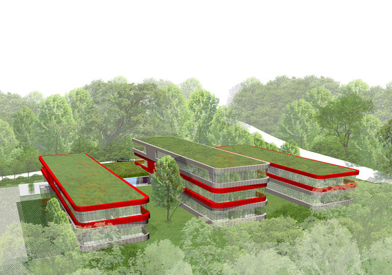 Wettbewerb Neubau Kreisverwaltung Mettmann Perspektive 1