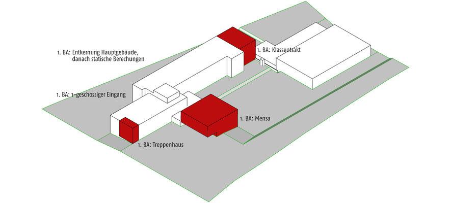 Dreikönigsgymnasium Köln, 1. Bauabschnitt, Animation