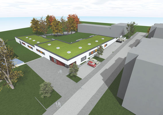 Neubau Kindertagesstätte Schulstraße Wülfrath, Animation