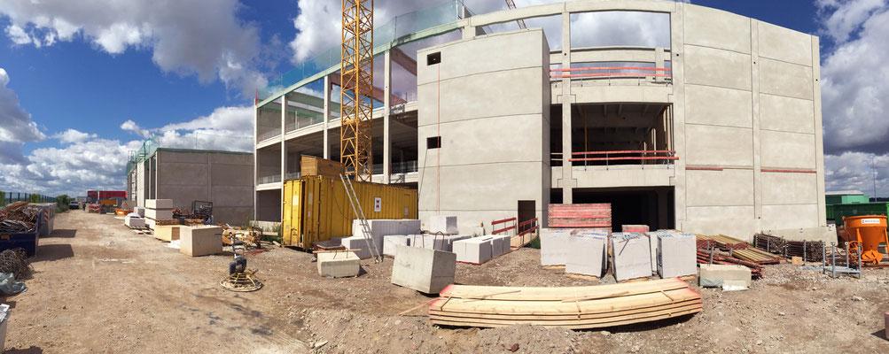 Erweiterungsneubau Produktion TAKASAGO Europe GmbH, Baustellenpanoroma