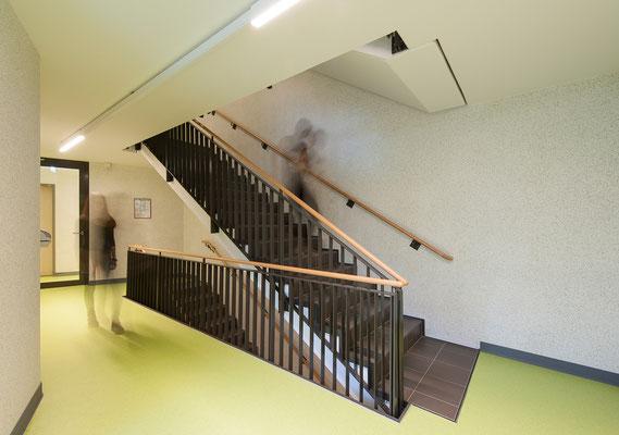 Neubau Studierendenwohnanlage in Gummersbach, Treppenhaus
