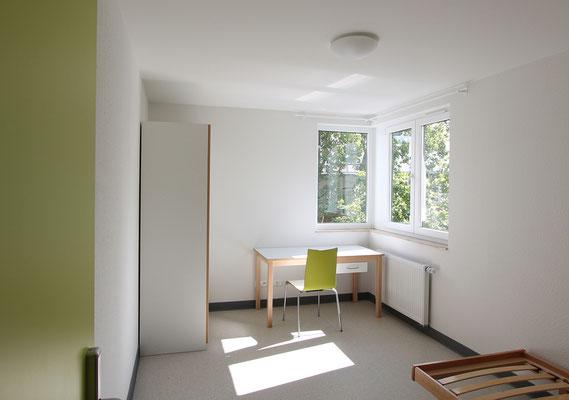Erweiterung Wohnanlage für Studierende in der Bernkasteler Straße in Köln, Musterzimmer