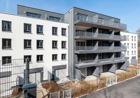 Neubau für gefördertes Wohnen in Kerpen-Horrem, Hofansicht