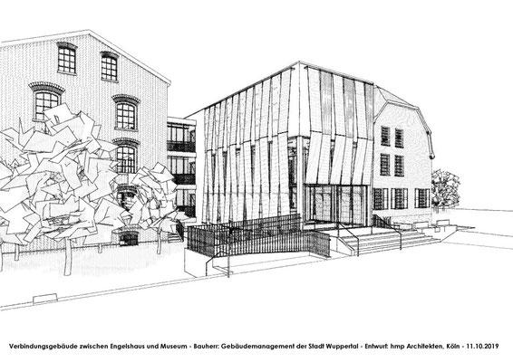 Neubau des Verbindungsbaus zwischen Engelshaus und Museum für Frühindustrialisierung in Wuppertal - Skizze 03