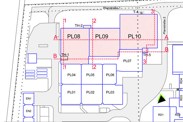 Erweiterungsneubau Produktion TAKASAGO Europe GmbH, Lageplan