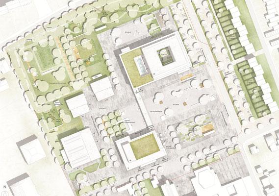 Wettbewerb Neubau Gesamtschule Sieglar, Lageplan