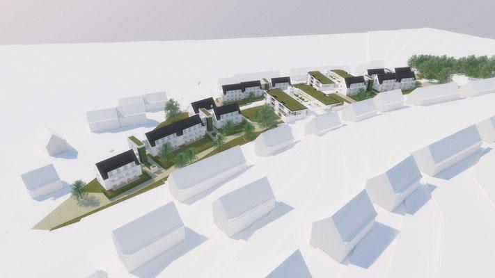 Wettbewerb I Quartiersentwicklung Breitenhagen, Altena, hangseitiger Blick