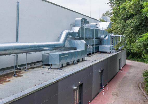 Sanierung Sporthalle Johannes Gutenberg Realschule in Dortmund, technische Anlagen zum neuen Lüftungskonzept