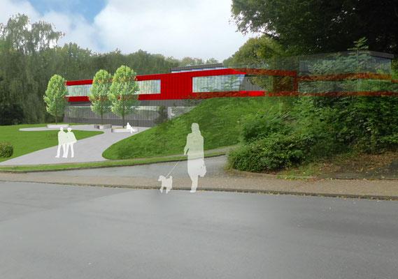 Wettbewerb Neubau Kreisverwaltung Mettmann Animation 1