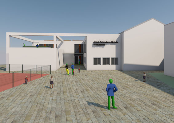 Generalplanung zur Erweiterung Josef-Schaeben-Grundschule Weilerswist, Vorplanung Ansicht Nord