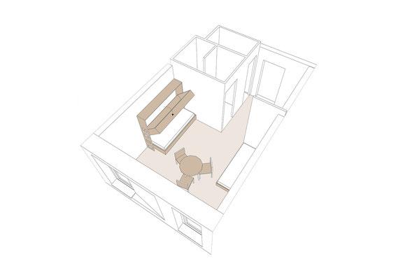 Machbarkeitsstudie Haus Venusberg e.V. in Bonn, Visualisierung Gästezimmer