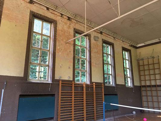 Sanierung und Umnutzung einer historischen Turnhalle zum Nachwuchsleistungszentrum, Bestand, Halle