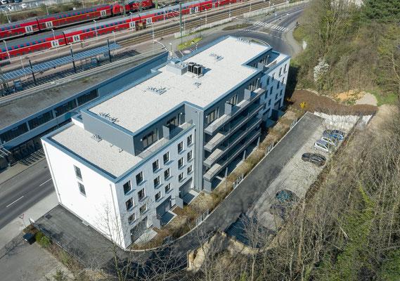 Neubau für gefördertes Wohnen in Kerpen-Horrem, Vogelperspektive
