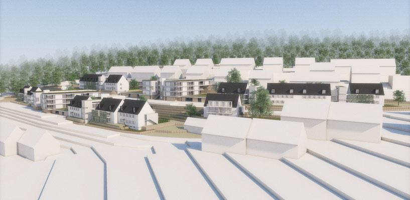 Wettbewerb I Quartiersentwicklung Breitenhagen, Altena, Ansicht Luftbild