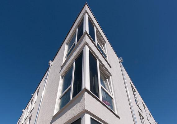 Neubau Studierendenwohnanlage in Gummersbach, Detail Fassade