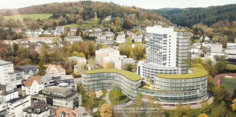 Anerkennung im Wettbewerb Verdichtung Kreishausareal Gummersbach, Animation