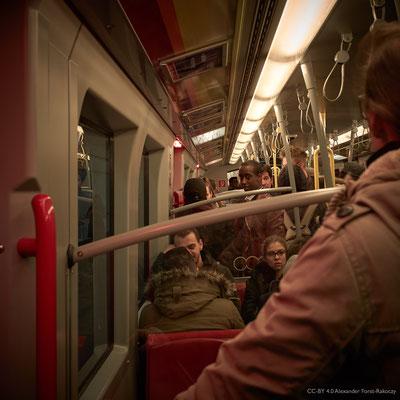 Alfora: In der U-Bahn bei der Heimfahrt.