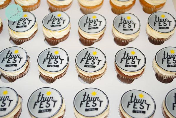 Cupcakes fürs Thunfest als Kundengeschenk