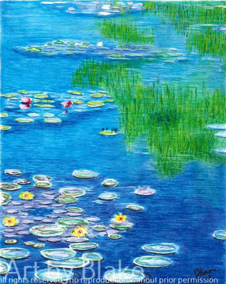 'Lillies On The Pond' by Blake 2017