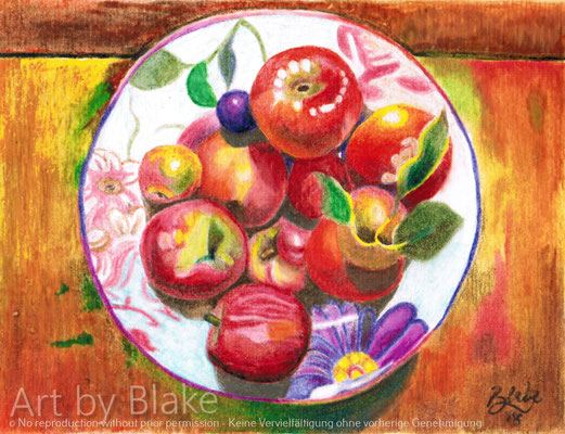 Apple Plate for Mom by Blake 2018