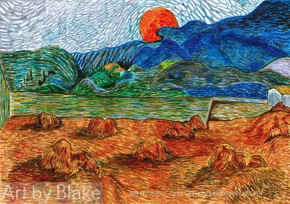 'Haystacks' by Blake 2016