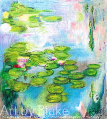 'Lillies On the Ponds' by Blake 2017