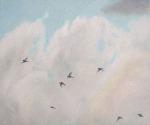 """sky and birds"" oil on canvas, 2009"