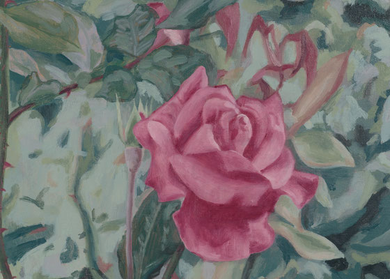 """rose"" oil on canvas, 2017"
