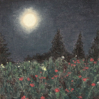 """moon garden"" oil on canvas, 2015"