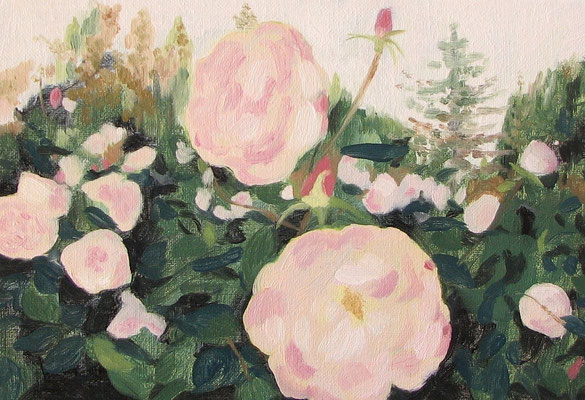 """rose garden"" oil on canvas, 2015"