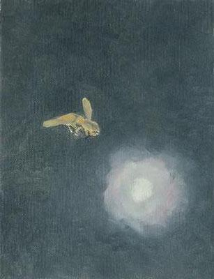 """""""はちと神さま"""" oil on canvas, 2008"""