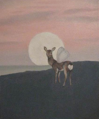 """deer with wings"" oil on canvas, 2008"