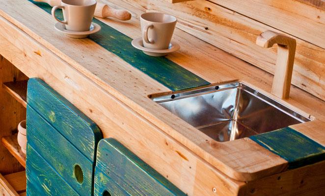 Muebles de madera de pallet.