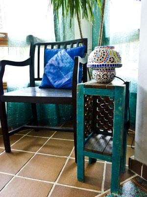 Mesita auxiliar Marrakesh. Repuntomadera.