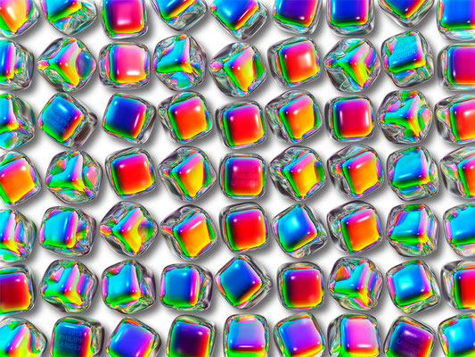 Iridescent Glass Cubes (2015)