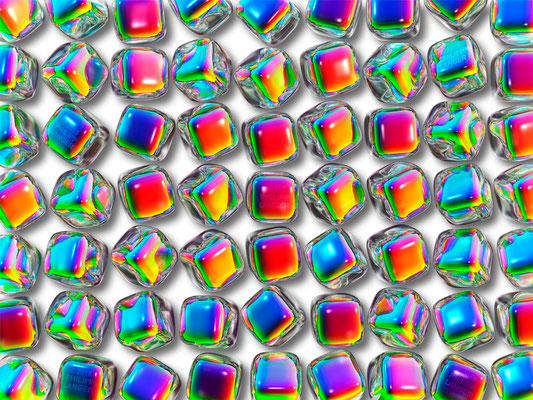 Iridescent Glass Cubes (2015)