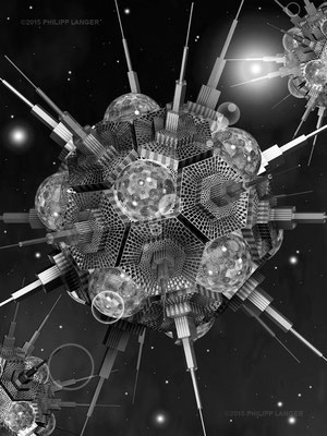Buckminster-Stern / Beaded Buckyball (2015)