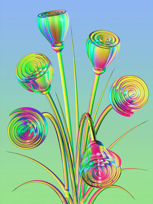 Vibrant Glass Flowers (2016)