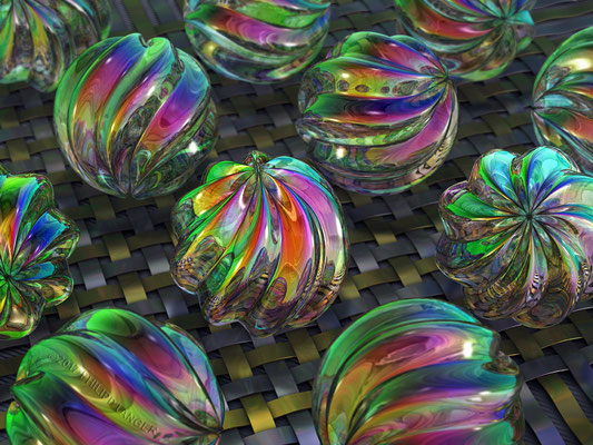 Twisted Glass Beads (2017)