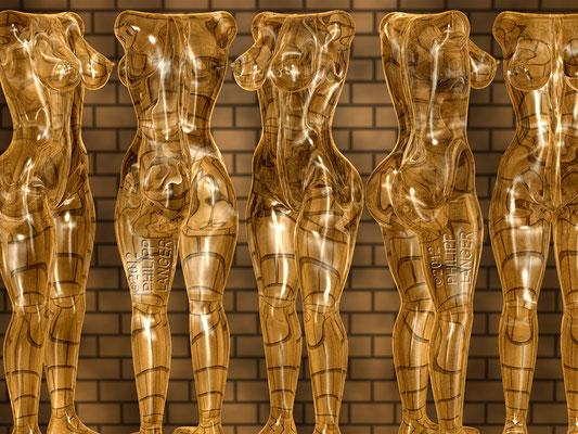 Female Glass Torsos