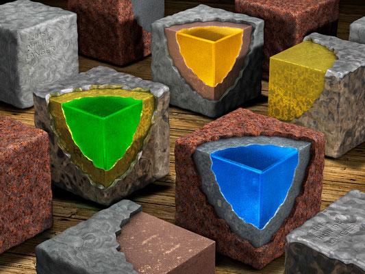 Sheathed Cubes (2015)