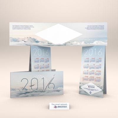 Création de la carte de vœux 2016 de l'Institut Aéronautique et Spatial (I.A.S.)