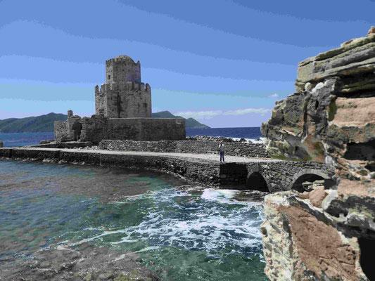 Bogenbrücke an der venezianischen Festung Methoni