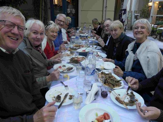 Abendessen in der Altstadt Plaka