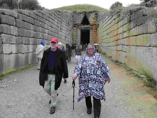 Rückkehr aus dem Kuppelgrab des Agamemnon in Mykene