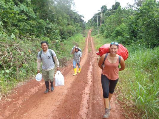 Le long chemin vers la cabane Huaorani