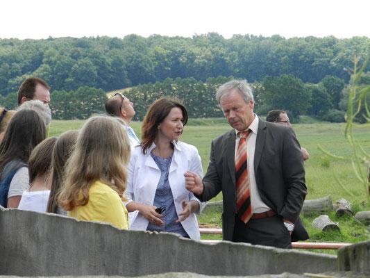 Umweltministerin Anja Siegesmund und Landrat Thomas Müller