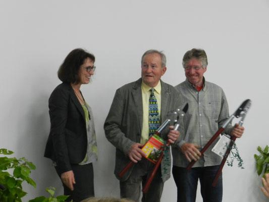 Verena Volkmar mit den Gründungsmitgliedern Dr. Walter Rußwurm und Horst Worliczek
